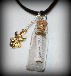 Supernatural Sam and Dean Winchester Rock Salt Amulet Necklace