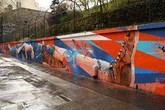 Skio and Théo Lopez at Square Henri-Karcher in Paris for Art Azoï | BSA | Brooklyn Street Art