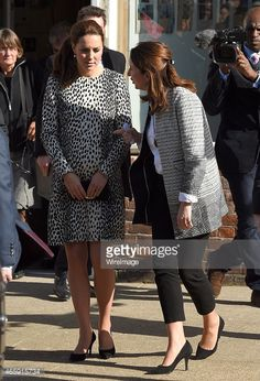 Catherine, Duchess of Cambridge and Rebecca Deacon departs after visiting the Resort Studios on March 11, 2015 in Margate, England