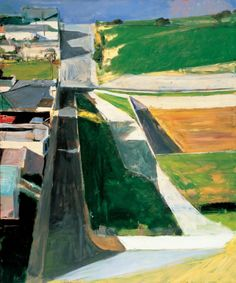 Richard Diebenkorn, Cityscape Oil on canvas.San Francisco Museum of Modern Art. Purchase with funds from Trustees and friends in memory of Hector Escobosa, Brayton Wilbur, and J. Image: 2014 The Richard Diebenkorn Foundation Richard Diebenkorn, Urban Landscape, Landscape Art, Landscape Paintings, Landscape Drawings, Acrylic Paintings, Landscape Design, Abstract Expressionism, Abstract Art