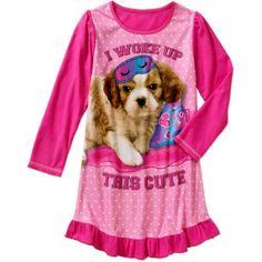 Girls' Long Sleeve Sleep Gown, Size: 10/12, Pink