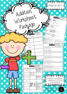 Addition Worksheet Package