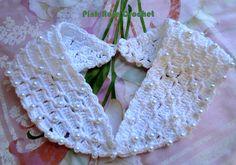 \ PINK ROSE CROCHET /: Gola Branco Pérola - Crochet Collar Collar with Beads