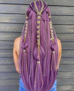 Post with 4862 votes and 155601 views. Shared by imachocobo. A hair post. Pretty Hairstyles, Braided Hairstyles, Viking Hair, Natural Hair Styles, Long Hair Styles, Fantasy Hair, Hair Art, Hair Today, Purple Hair