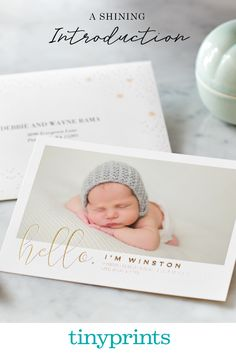 Birth announcements that shine. Shop our wide collection of announcements including classic, infographic, monograms and more.