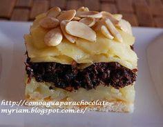 COMO AGUA PARA CHOCOLATE: MILHOJAS DE PATATA, MORCILLA Y MANZANA