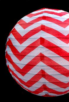14 Inch Red Chevron Paper Lantern, Even Ribbing, Hanging Decoration on Sale Now! Chevron Paper, Red Chevron, Paper Lantern Store, Paper Lanterns, Cheap Lanterns, Wedding Paper, String Lights, Unique Weddings, Red And White