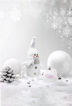 Snowman Winter Backdrop for Photo Studio - custom size please ask price