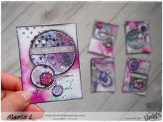 Marta Lapkowska: 'My reason to smile' ATC's set for Lindy's Stamp G...