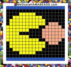 patrones hama beads pac-man+pantalla