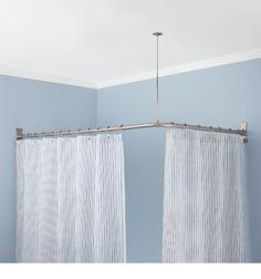 7 round shower curtain rod ideas