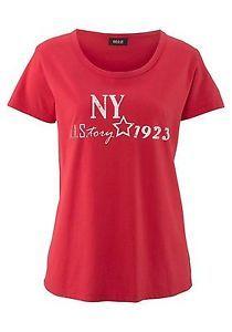 HEINE Designer Polo Style Shirt Feinstrick Longshirt Pullover NEU orange