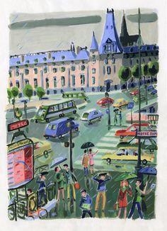 In which I gather. Pierre Bonnard, Pierre Auguste Renoir, Georges Seurat, Travel Illustration, Landscape Illustration, Edward Hopper, Vincent Van Gogh, Monet, Maurice Utrillo