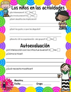 Evaluación Spanish Lesson Plans, Spanish Lessons, Teaching Spanish, Teaching Resources, Classroom Organization, Classroom Management, Kindergarten Activities, Preschool, Tutorial Class