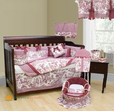 I love toile, i have this in red for when i have my first child : )