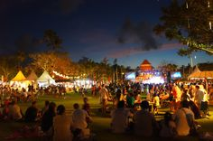 Family concert: The open-air venue of Taman Bhagawan at Tanjung Benoa, Bali, played host to Jazz Market By The Sea on August 16-18, 2013. #Bali #jazz #music #musik