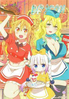 To discuss about the manga and anime Kobayashi-san Chi no Maid Dragon. Chica Anime Manga, Otaku Anime, Kawaii Anime, Anime Girls, Anime Art Girl, Dragon Girl, Miss Kobayashi's Dragon Maid, Chibi, Kobayashi San Chi No Maid Dragon