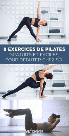 Les explications en détail… What pilates exercises can I do at home? The explanations in detail for an easy and free pilates course at home. Learn the basics of Pilates yourself Yoga Fitness, Sport Fitness, Yoga Gym, Fitness Tracker, Physical Fitness, Health Fitness, Pilates Workout Routine, Pilates Training, Cardio Hiit