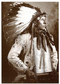 postcard - us 2143428 - kicks iron - dakota sioux - 1905 | by sonobugiardo