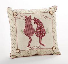 "Amazon.com - Meow Cat Accent Pillow 12"" -"