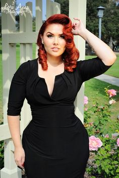 Katherine Ruched Panel Dress in Black | Pinup Girl Clothing