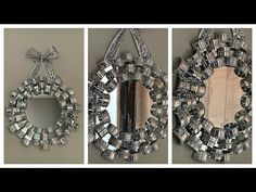 Diamond Furniture, Mirrored Furniture, Furniture Decor, Glam Mirror, Diy Mirror, Diamond Party, Salon Interior Design, Diy Bathroom Decor, Diy Party Decorations