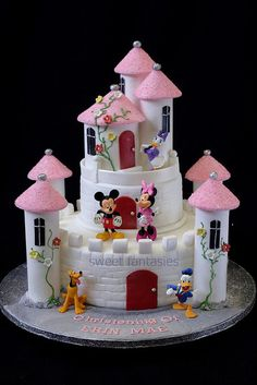 Castle Christening Cake by www.sweetfantasies, via Flickr