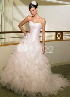 $202.96 - Ball Gown Sweetheart Applique Wedding Dress