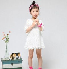 Girl Toddler Kids Infant Baby Lace Princess Top Party Dress Outfit Clothes 0-6Y #DressyEverydayHolidayPageantWedding