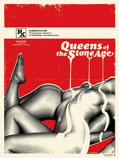 QUEENS OF THE STONE AGE (RED EDITION) 10th Anniversary of Rated R SOLD OUT www.lalalandprints.com