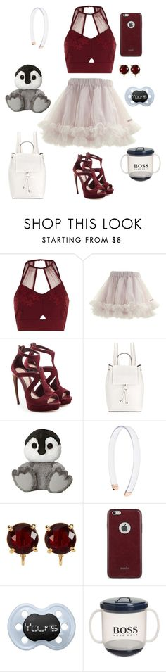 """Little Outfit 33 (DDLG)"" by babydoll-devil17 ❤ liked on Polyvore featuring River Island, Alexander McQueen, French Connection, Witchery, Carolee, Moshi, little, ddlg and cgl"