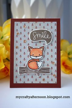 https://flic.kr/p/Dq9auY | Foxy Birthday | A little out of season birthday card featuring Lawn Fawn's Into the Woods stamp set! mycraftyafternoon.blogspot.ca/2016/01/a-foxy-birthday.html