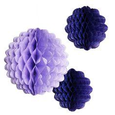 Pappersdekor Honeycombs lila