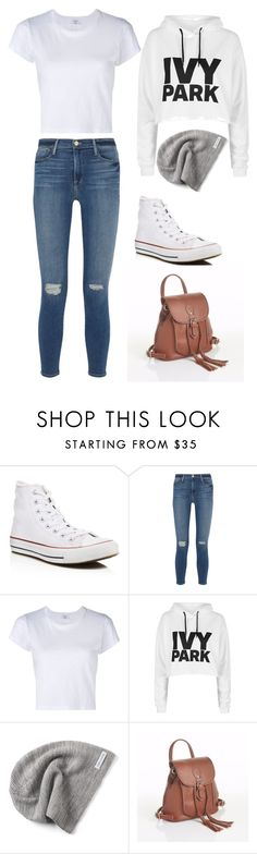 """""""Casual morning"""" by impavidgirlstore ❤ liked on Polyvore featuring Converse, Frame Denim, RE/DONE, Topshop and Zatchels"""