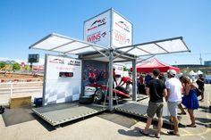 See This: Booth in a Box - Modulbox is a compact mobile event marketing space that can be used for trade shows or pop-up activations. Business Events, Corporate Events, Exhibition Stall, Event Marketing, Experiential, Trade Show, Visual Merchandising, Humor, Pop Up