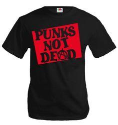 buXsbaum T-Shirt Punks not dead-L-Black-Red - http:
