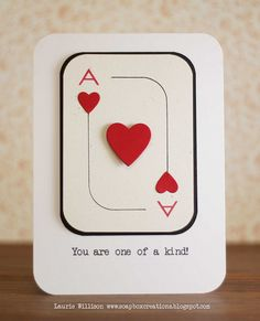 "This would be great with the sentiment ""You're Aces in my Heart"" - bjl"