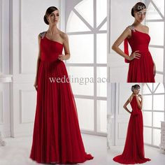 Wholesale Pageant Dress - Buy 2013 Beaded One Shoulder Sheath Chiffon Pageant Dress Evening Party Gown Prom Dress, $96.98 | DHgate