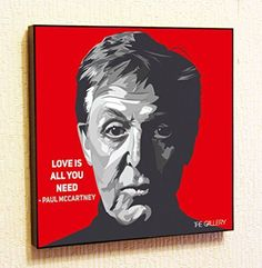 Paul McCartney The Beatles Singer Music Artist Actor Decor Motivational Quotes Wall Decals Pop Art Gifts Portrait Framed Famous Paintings on Acrylic Canvas Poster Prints Artwork Geek Decor Wood *** Click on the image for additional details.
