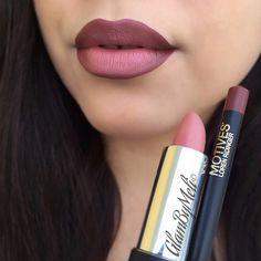 Loving this combo @motivescosmetics lipstick (natural) & @motivescosmetics lip liner (raisin) ... #glambymeli