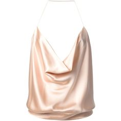 ALEXANDRE VAUTHIER draped spaghetti strap blouse ($426) ❤ liked on Polyvore featuring tops, blouses, tank tops, pink halter top, drapey top, halter neck top, halterneck top and tie halter top
