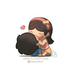 Love is :: Kiss Hj Story, Cute Love Stories, Love Story, True Stories, Tu Me Manques Énormément, Cute Love Cartoons, Couple Cartoon, Chibi Couple, Love Illustration