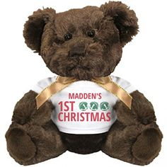 Jingle Bells Maddens 1st Christmas Small Plush Teddy Bear >>> Click on the image for additional details.