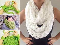Arm Knit Scarf Step By Step In 30 Minutes