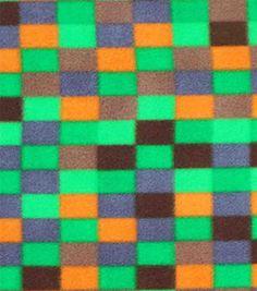 Blizzard Fleece Prints-Green Pixels