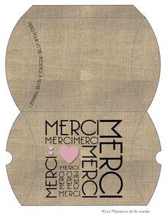 pillow box berlingot MERCI // les moineaux de la mariée