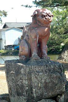 "Komainu ""un"" style Garden Sculpture, Lion Sculpture, Turning Japanese, Okinawa Japan, Japanese Beauty, Japanese Culture, Deities, Lions, Religion"