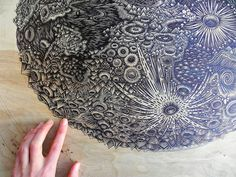 moon carving