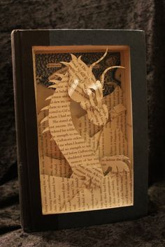 Book Sculptures - Jodi Harvey-Brown - #Eragon #Book Sculpture