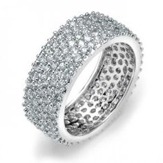 five-row-925-sterling-silver-micro-pave-cubic-zirconia-eternity-band-6_1 Best Deal Bling Jewelry Forever Yours Set